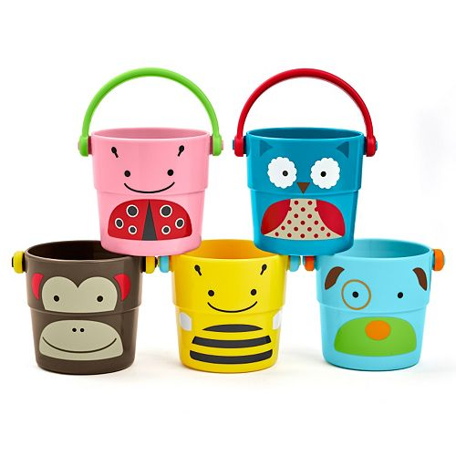 Skip Hop Zoo 5-pc. Stack & Pour Buckets