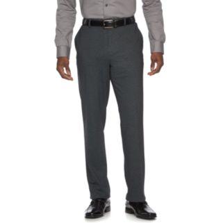 Men's Apt. 9® Knit Slim-Fit Charcoal Heather Suit Pants