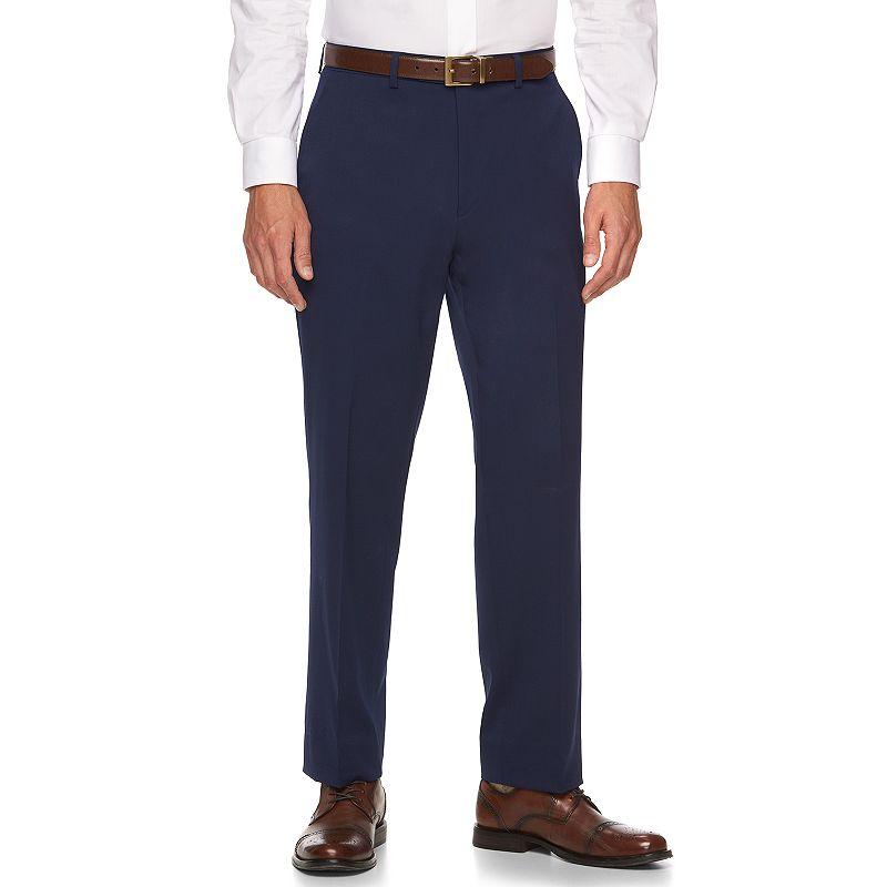 Men's Chaps Classic-Fit Blue Wool-Blend Suit Pants