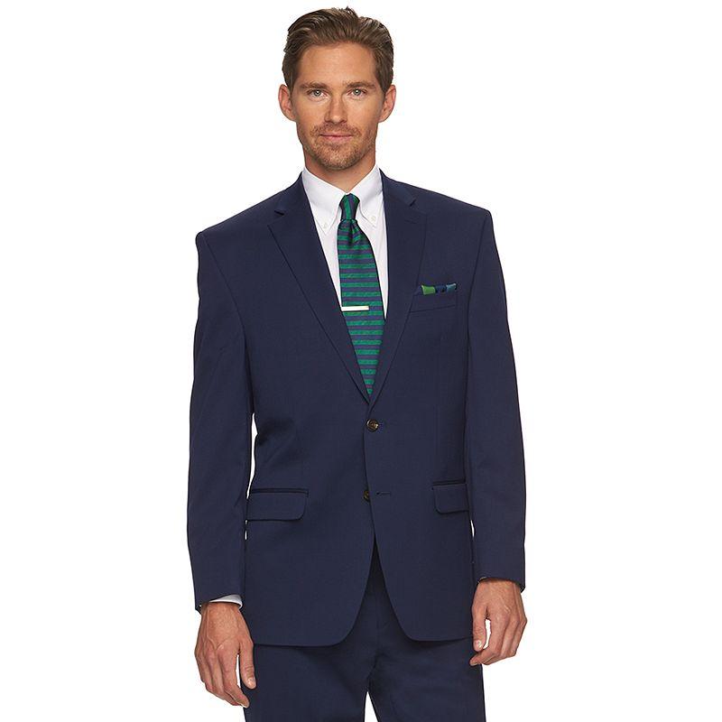 Men's Chaps Classic-Fit Blue Wool-Blend Suit Jacket
