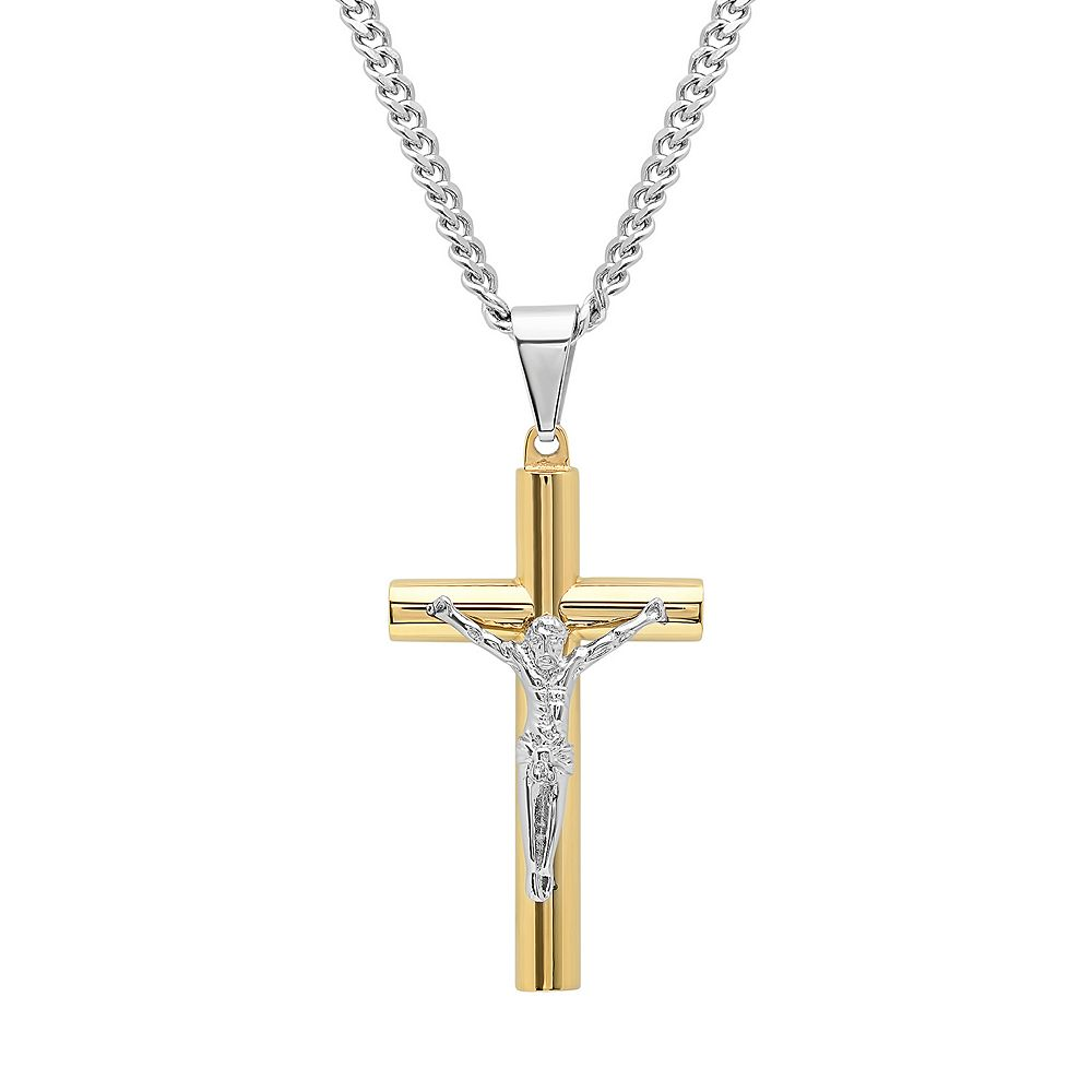 pendant crucifix home benedict catholic amazon gold dp inch exorcism saint cross kitchen com tone