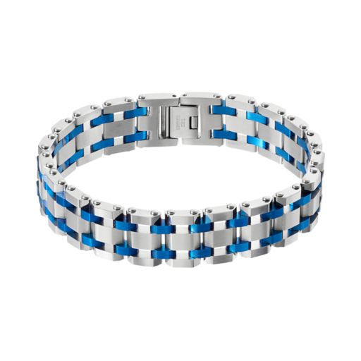 Men's Two Tone Stainless Steel Bracelet