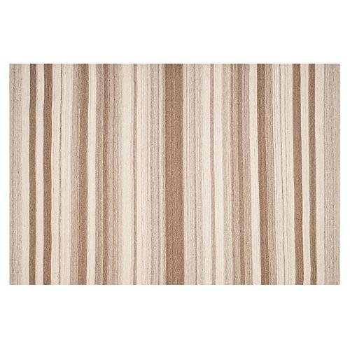 Safavieh Dhurries Stripe Handwoven Flatweave Wool Rug