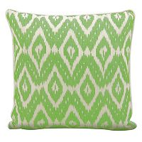 Mina Victory Lifestyles Geometric Ikat Throw Pillow