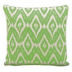 Mina Victory Lifestyles Geometric Ikat Throw Pillow