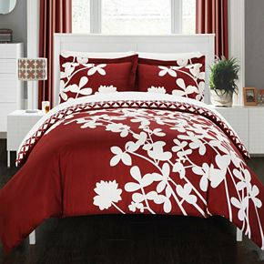 Chic Home Calla Lily 7-piece Reversible Duvet Cover Set