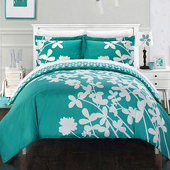 Chic Home Calla Lily 7 pc Reversible Duvet Cover Set