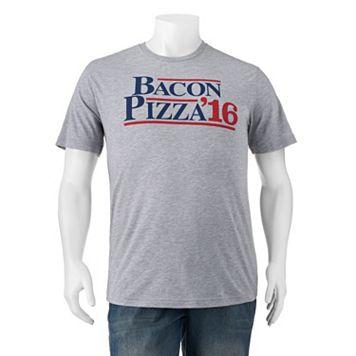 Big & Tall Bacon & Pizza Presidential Tee