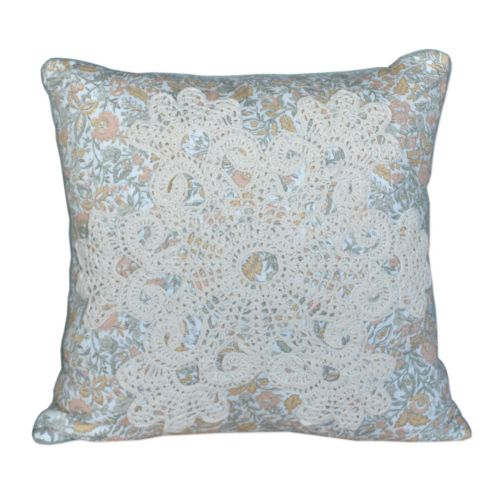 Always Home French Chain Square Throw Pillow