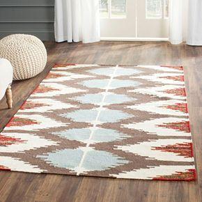 Safavieh Dhurries Southwest Handwoven Flatweave Wool Rug