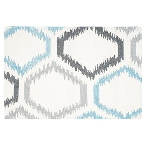 Safavieh Dhurries Honeycomb Handwoven Flatweave Wool Rug