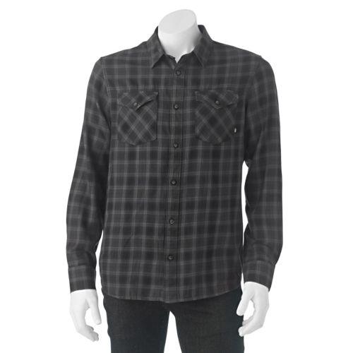 Men's Vans Plaid Woven Button-Down Shirt