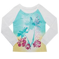 Girls 4-6x French Toast Tropical French Terry Tee