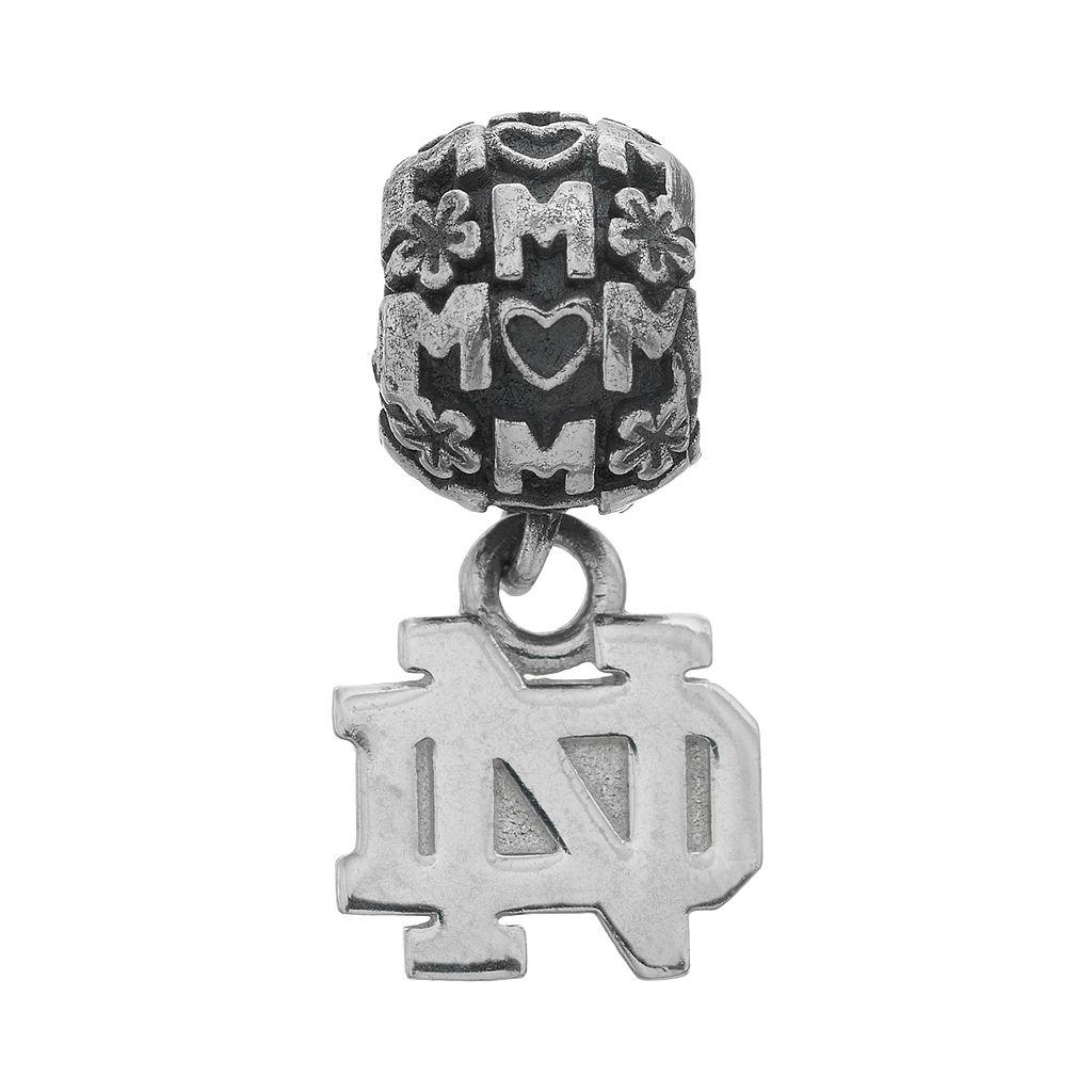 Dayna U Sterling Silver Notre Dame Fighting Irish Team Logo