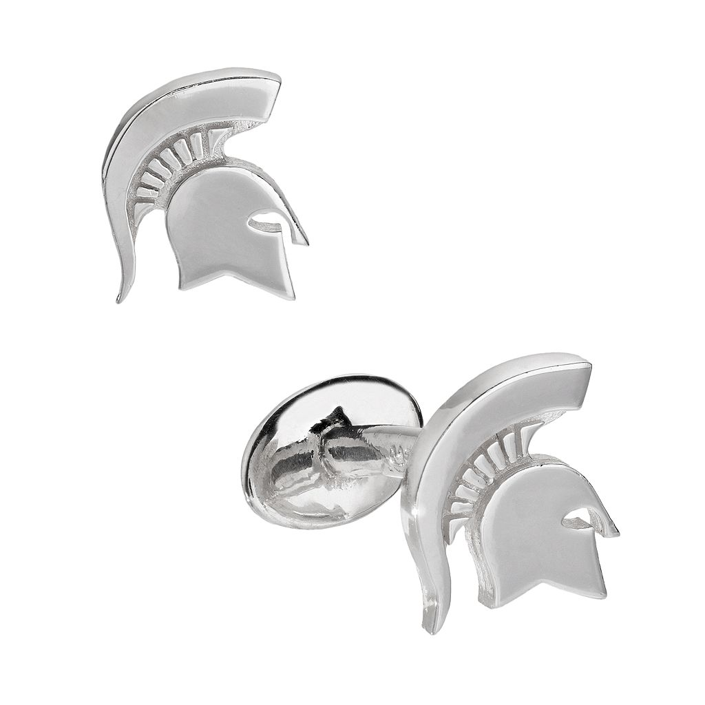 Dayna U Sterling Silver Michigan State Spartans Cuff Links