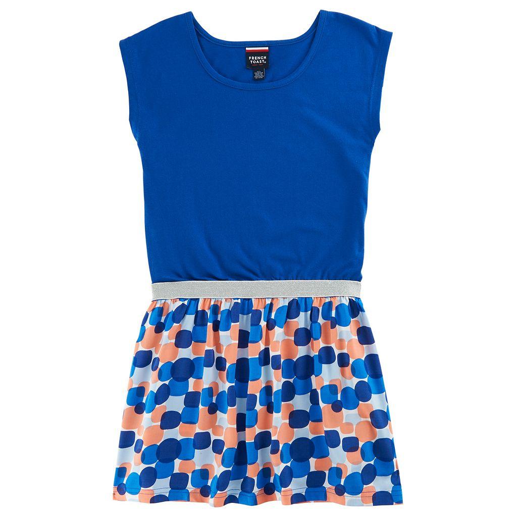 Girls 4-6x French Toast Glitter Waistband Dress