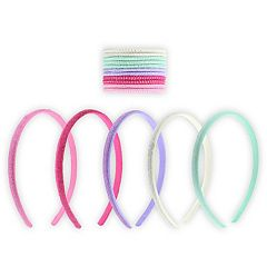 Girls 15-pc. Lurex Headband & Ponytail Holder Set