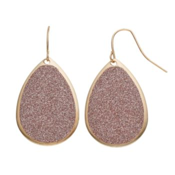 Apt. 9® Glitter Teardrop Earrings