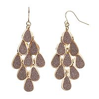 Apt. 9® Glitter Teardrop Kite Earrings