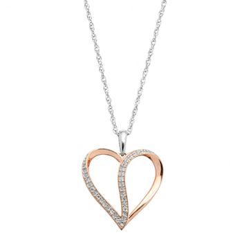 Sterling Silver 1/10 Carat T.W. Diamond Heart Pendant