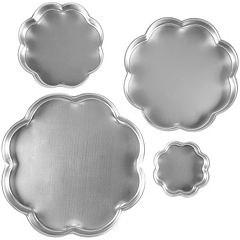Wilton 4 pc Flower Petal Tiered Cake Pan Set
