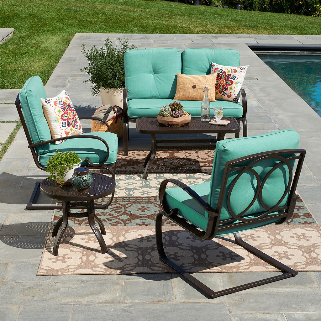 SONOMA Goods for Life™ Claremont Swivel Patio Chair 2-piece Set