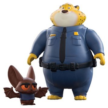 Disney's Zootopia Clawhauser & Bat Eyewitness Character Figure Set by Tomy
