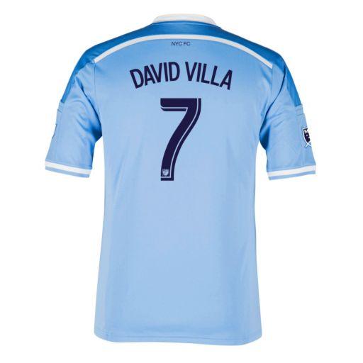 Men's adidas New York City FC David Villa Wordmark MLS Jersey