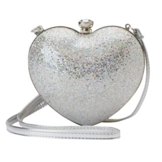 Girls Molded Heart-Shape Cross Body Purse