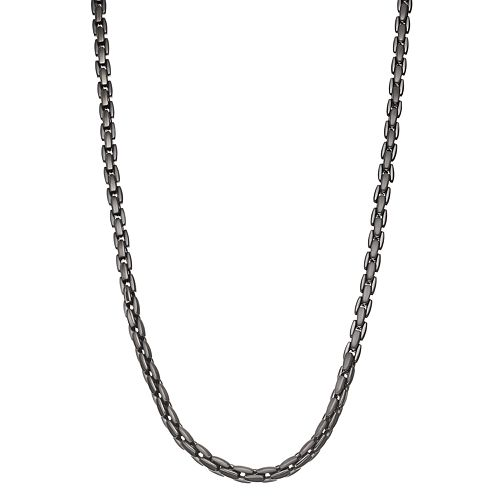 Men's Stainless Steel Box Chain Necklace