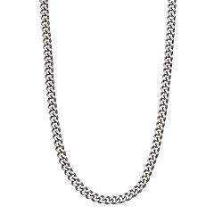 Men's Stainless Steel Curb Chain Necklace