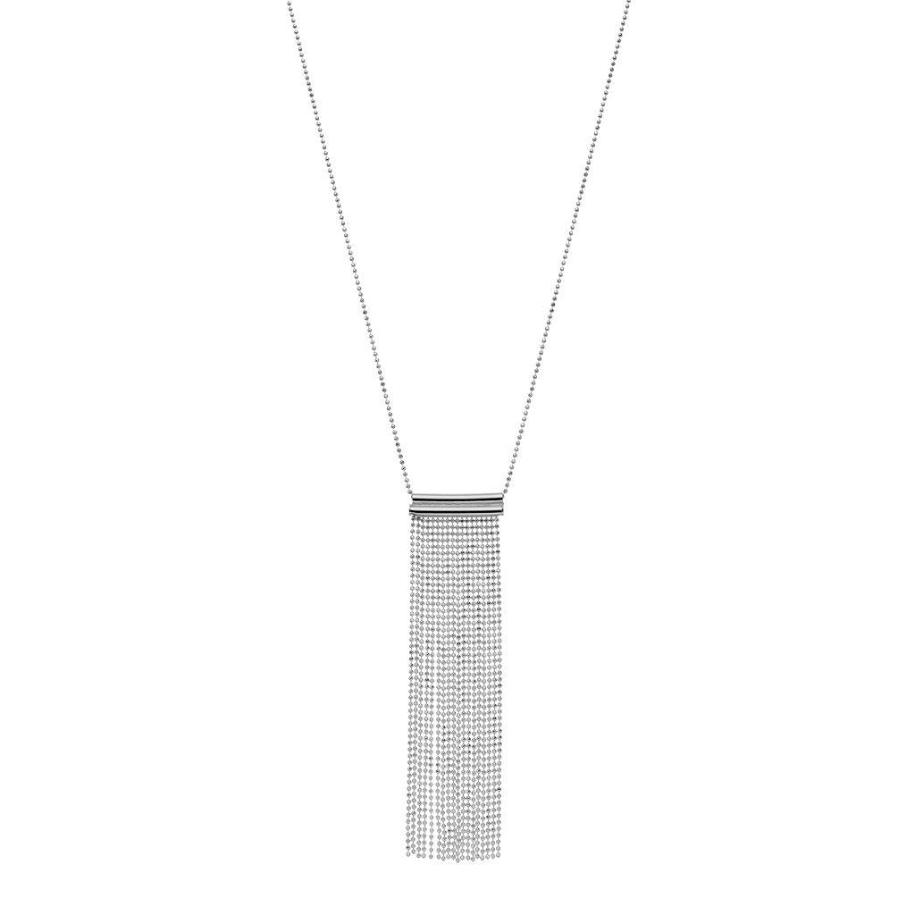 Sterling Silver Fringe Pendant Necklace