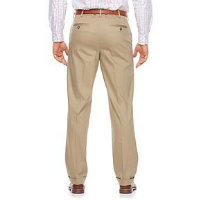 Men's Croft & Barrow® Classic-Fit Pleated No-Iron Stretch Khaki Pants