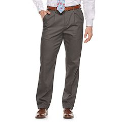 Men's Croft & Barrow® Classic-Fit Pleated No-Iron Stretch Khaki Pants