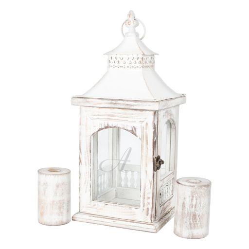 Cathy's Concepts 3-piece Monogram Lantern & Candle Holder Set