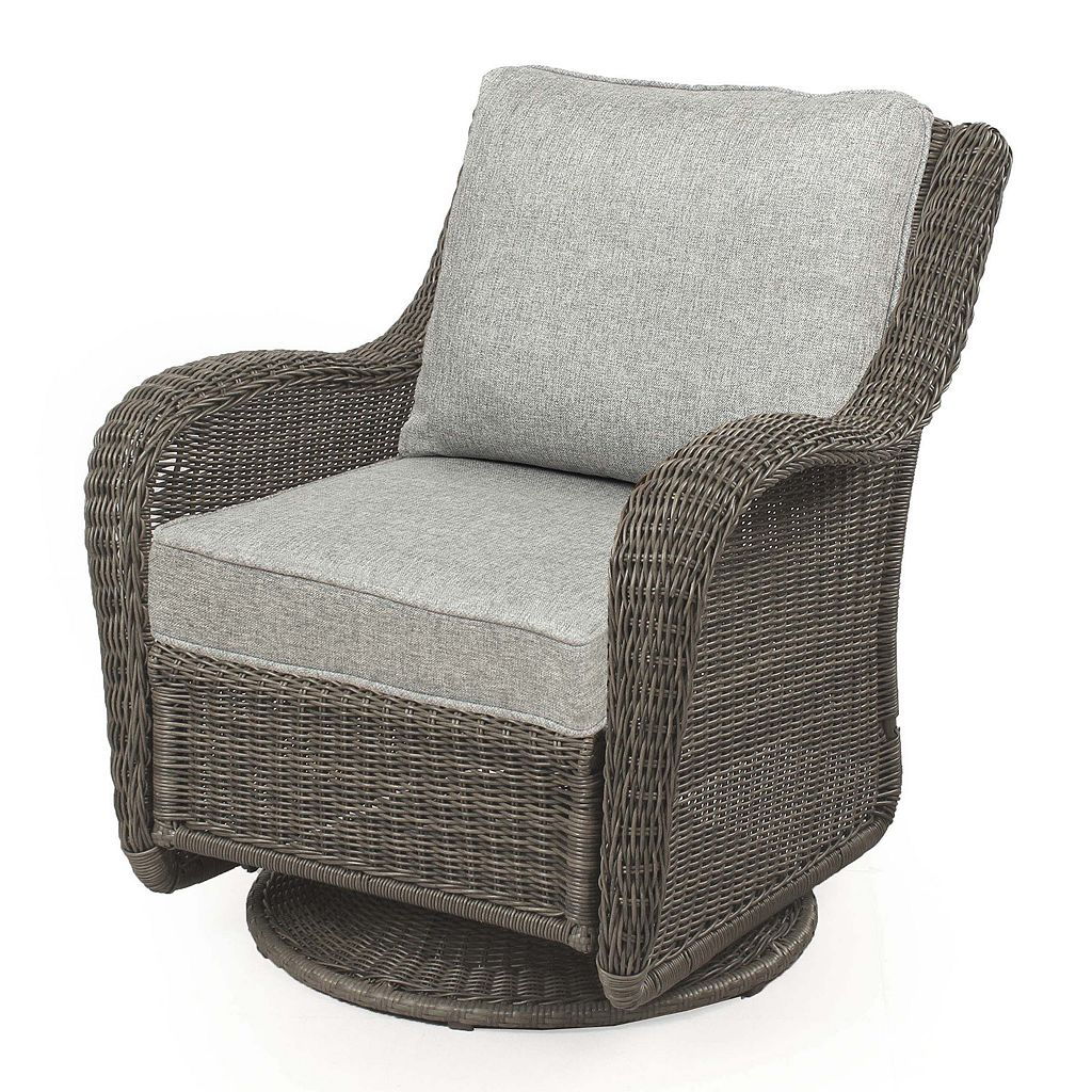 Sonoma Goods For Life Presidio Wicker Swivel Rocking Chair