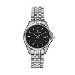 Croton Men's Heritage Diamond Stainless Steel Watch