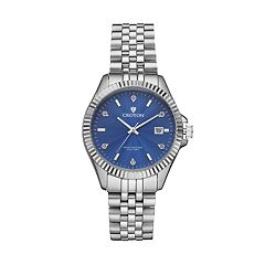 Croton Men's Heritage Diamond Stainless Steel Watch