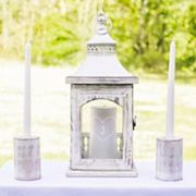 Cathy's Concepts 3 pc Monogram Heart Lantern & Candle Holder Set
