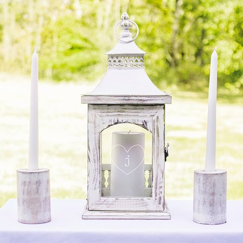 Cathy's Concepts 3-piece Monogram Heart Lantern & Candle Holder Set
