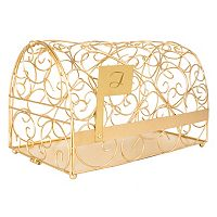 Cathy's Concepts Monogram Gold-Tone Mailbox Card Holder