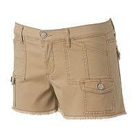Juniors' Mudd® Cargo Utility Shortie Shorts