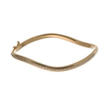 Diamond Fascination® 14k Gold Wave Bangle Bracelet