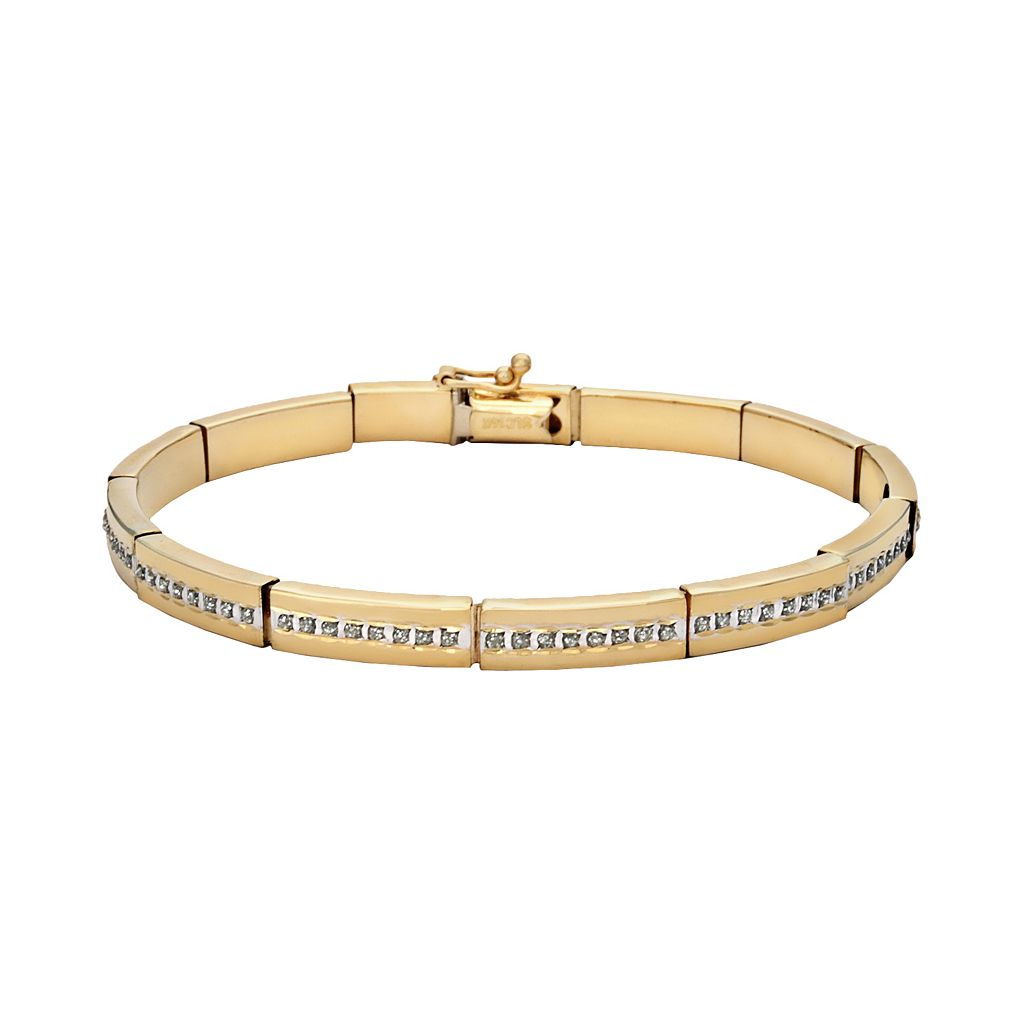 Diamond Fascination® 14k Gold Bar-Link Bracelet