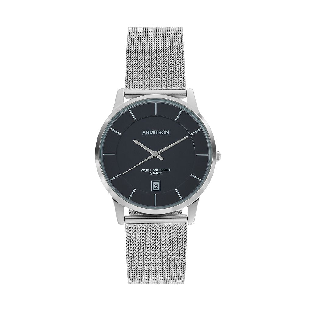 Armitron Men's Mesh Watch - 20/5123BKSV