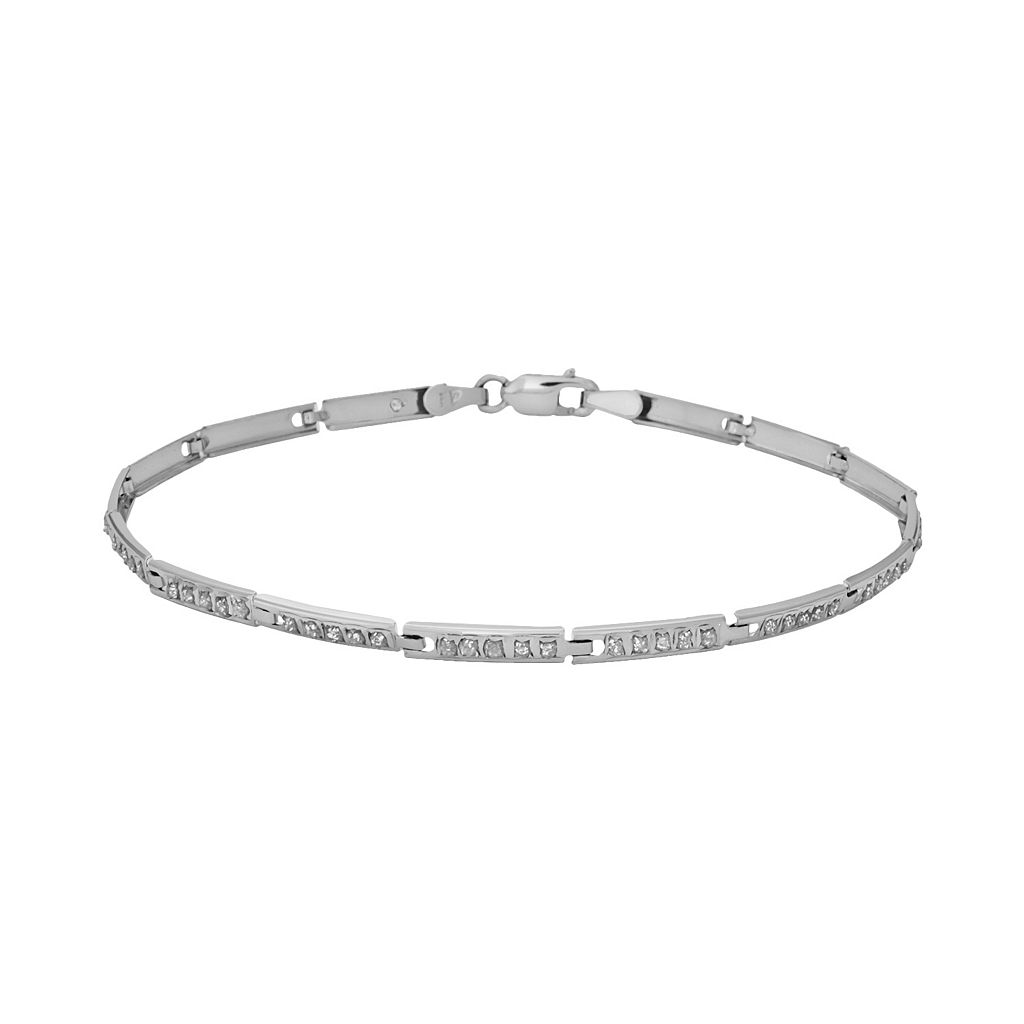 Diamond Fascination® 14k White Gold Linear Bracelet