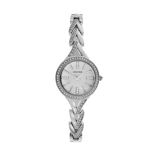 Armitron Women's Crystal V-Link Watch - 75/5391MPSV