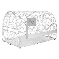 Cathy's Concepts Monogram Silver-Tone Mailbox Card Holder