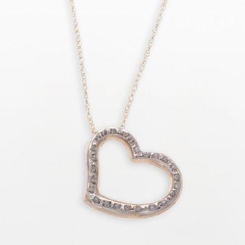 Diamond Fascination® 14k Gold Heart Pendant
