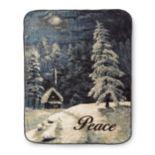 'Peace'' Hi Pile Oversize Throw